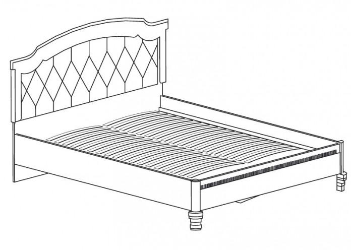 Модуль №487 Кровать *1600 Марлен