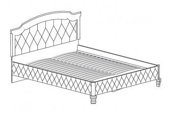 Модуль №490 Кровать *1800 с мягким изголовьем и обивкой Марлен