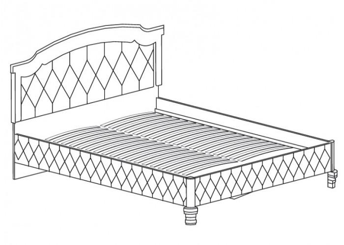 Модуль № 488 Кровать *1600 с мягким изголовьем и обивкой корпуса Марлен