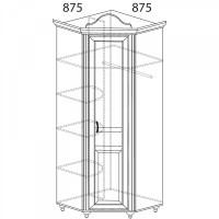 Модуль №562 Шкаф угловой (угол 875х875) Алиса