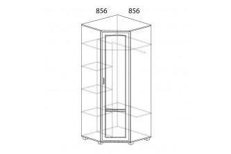 Модуль №243 Шкаф угловой (угол 856х856)