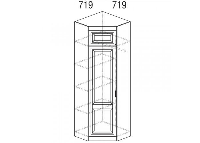 Модуль №341 Шкаф угловой (угол 719х719) Диана
