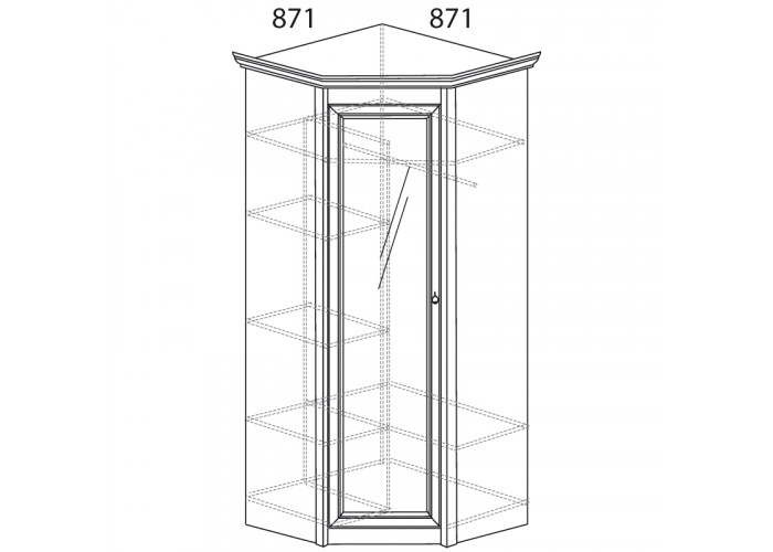 Модуль №641 Шкаф угловой Флоренция