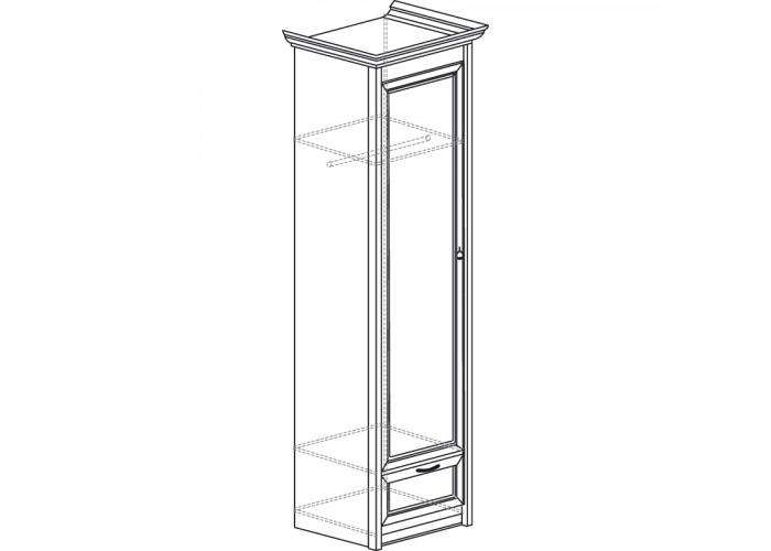 Модуль №660 Шкаф для одежды 1-дверный Флоренция