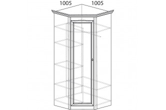 Модуль №662 Шкаф угловой Флоренция