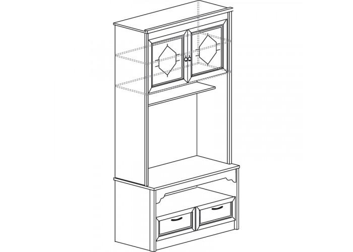 Модуль №666 Шкаф многоцелевой Флоренция