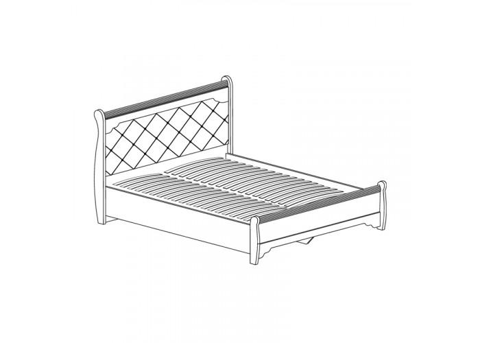 Модуль №678 Кровать двойная 1600 с низкой спинкой Флоренция
