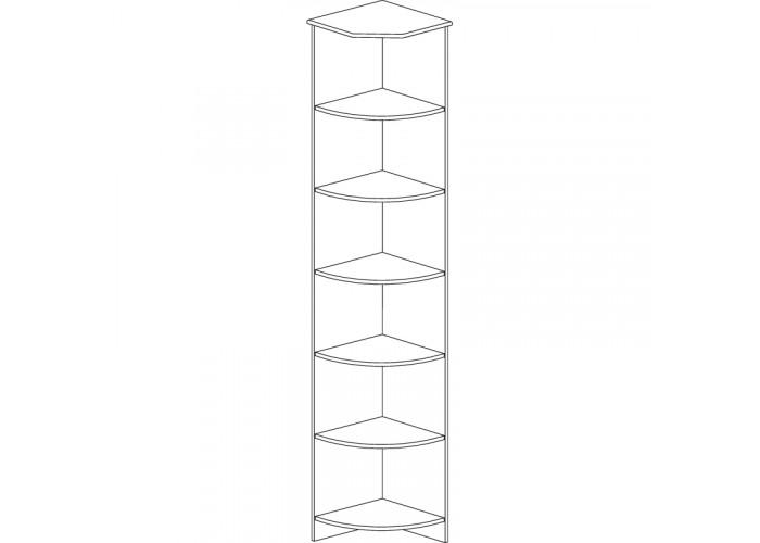 Модуль №618 Шкаф угловой открытый Инна