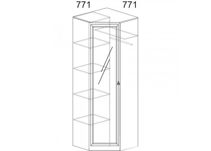 Модуль №621 Шкаф угловой Инна