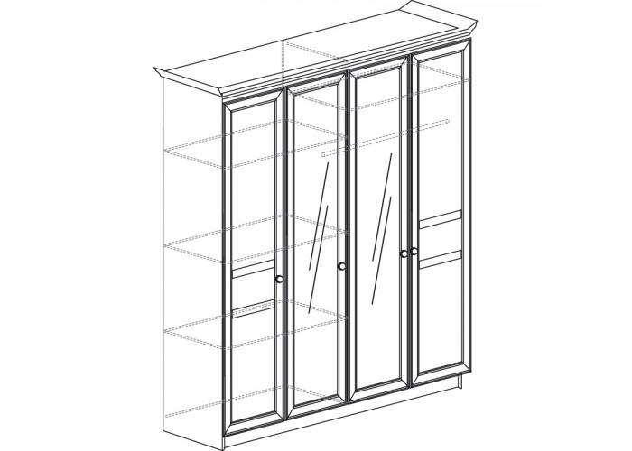 Модуль №624 Шкаф 4-х дверный Инна