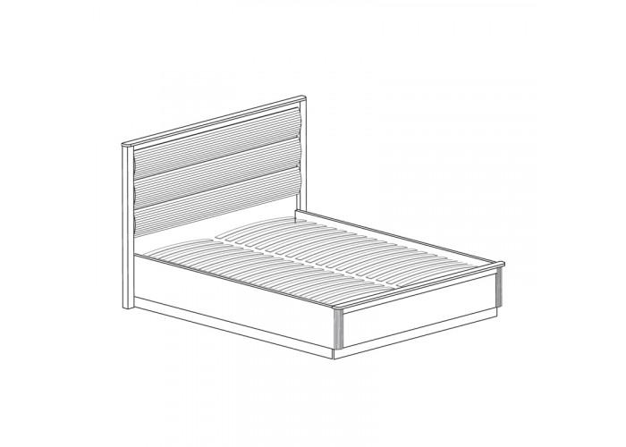 Модуль №632 Кровать двойная *1600 с мягким изголовьем Инна
