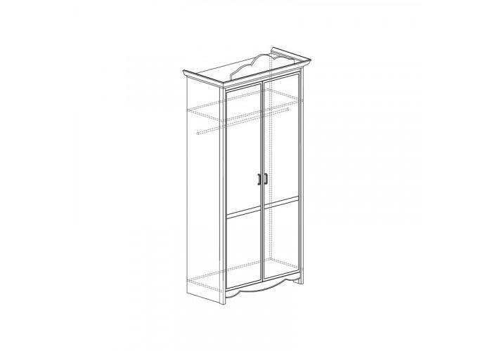 Модуль №688 Шкаф для одежды 2-дверный Каролина