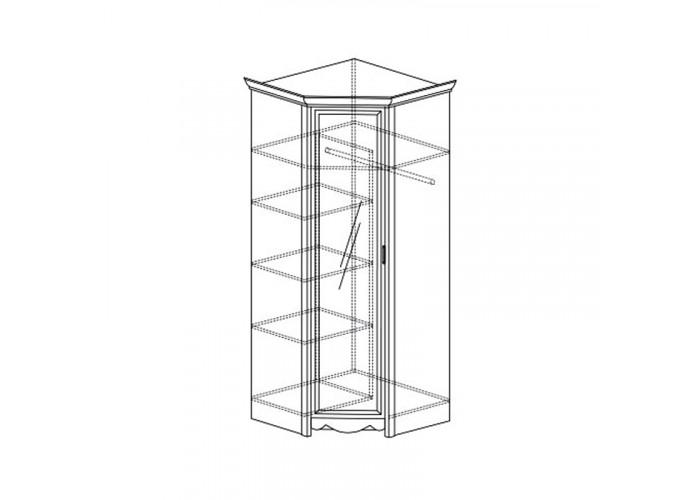 Модуль №690 Шкаф угловой с зеркалом Каролина