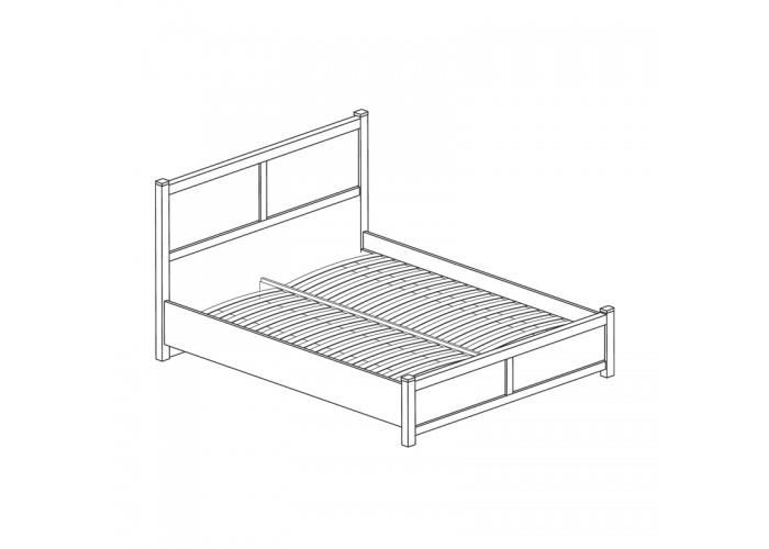 Модуль №441 Кровать двойная *1800 Киото