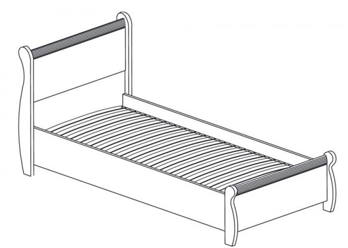 Модуль №545 Кровать одинарная Леон