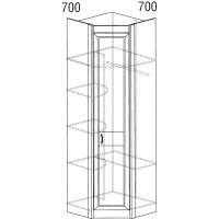 Модуль №532 Шкаф угловой Леон
