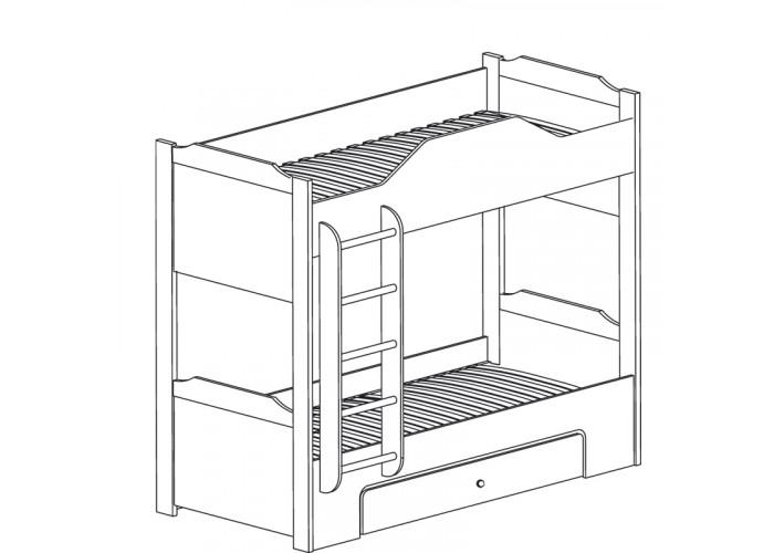 Модуль №543 Кровать двухъярусная Леон