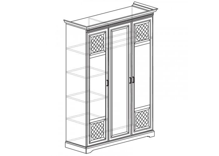 Модуль №800 Шкаф для одежды 3-дверный Парма