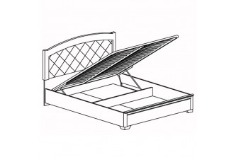 Кровать двойная *1600 с подъемным механизмом Парма №806