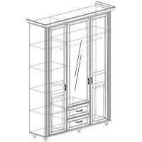 Модуль №863 Шкаф 3-дверный Ралли