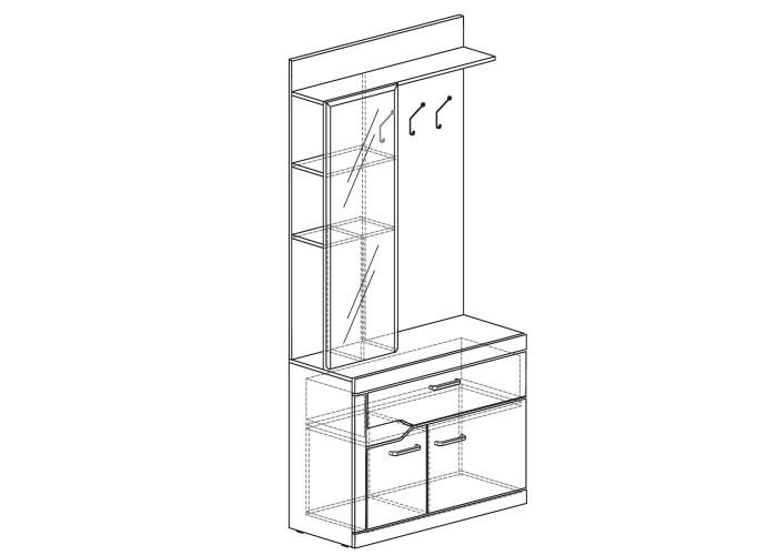 Модуль №319 Шкаф для одежды (открытый) Ронда