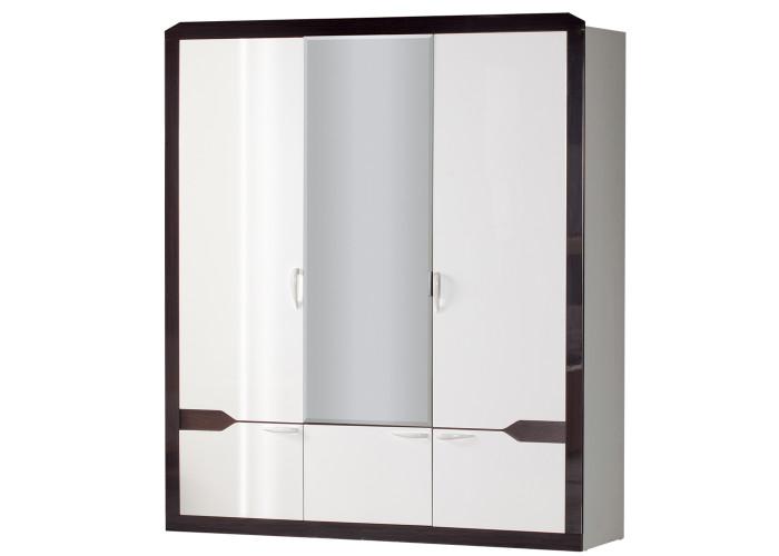 Модуль №310 Шкаф для платья и белья 3-дверный Ронда