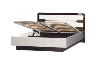 Модуль №316 Кровать двойная 1600 с мягким изголовьем и подъемным механизмом Ронда