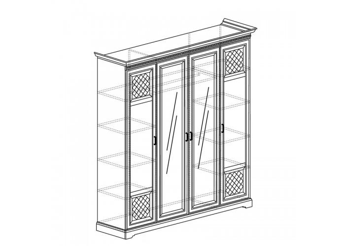 Модуль №814 Шкаф для одежды 4-дверный Парма