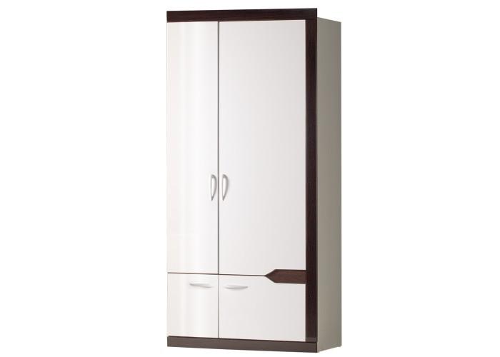 Модуль №318 Шкаф для платья и белья 2-дверный Ронда