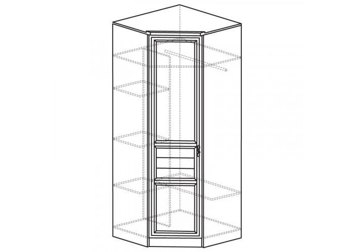 Шкаф угловой (угол 854х854) Лира №50